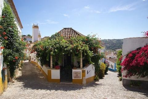 flower-covered-buildings-in-obidos-portugal
