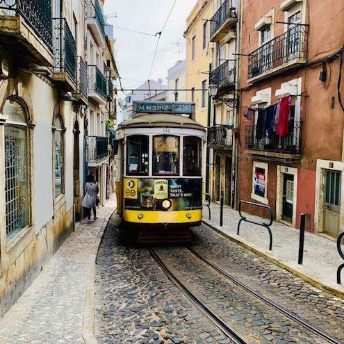 yellow-tram-Alfama-Lisbon